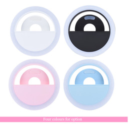 Wholesale Mini Led Lights Rings - Newest RK-12 LED Selfie Ring Mettle 36pcs Clip-on Fill-in Light Compact Mini LED Bead Selfie Ring Light CRI95+ 3-mode for iPhone Samsung