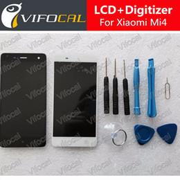 digitalizador de telefonía móvil Rebajas Al por mayor- Para Xiaomi Mi4 Pantalla LCD + Digitalizador de pantalla táctil + Conjunto de herramientas 100% Nuevo reemplazo de ensamblaje para M4 Mi 4 Teléfono móvil