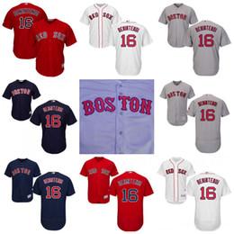 Wholesale Hot Sox Sale - Hot Sale #16 Andrew Benintendi Boston Red Sox Jersey Men Flexbase Cool Base All Stitched Embroidery Baseball Jerseys