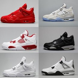 f1c27734e4443b 2017 air retro 4 Basketball Shoes men retro 4s Pure Money Royalty White  Cement Premium Black Bred Fire Red Sports Sneakers size 8-12