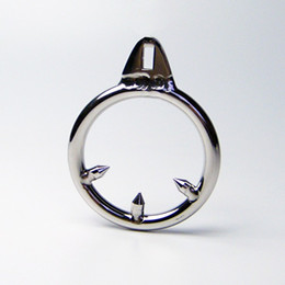 Wholesale Male Chastity Three Ring - 3 Size for Choose Male Chastity Device Cock Cages Additional Barb Penis Ring Stainless Steel Three Stab Anti-Shedding ring