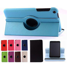"""Wholesale Cover For Fonepad - Wholesale- 360 Rotating Folio Stand Leather Case Skin Cover For ASUS Fonepad 8 FE380CG FE380CXG ME380CXG FE8030CXG K016 8"""" Tablet PC"""