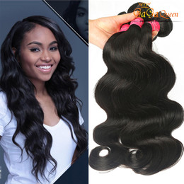 Wholesale Virgin Brazilian Hair Best Products - Best Quality Gaga Queen Hair Products Brazilian Virgin Hair Body Wave Double Weft And Dyeable Human Hair Extensions 4 Bundles Natural Color