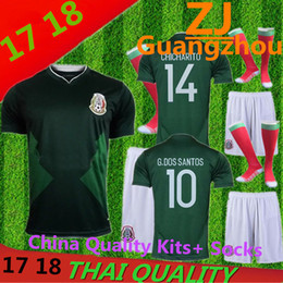 Wholesale Summer Flash - Men Mexico kits+ Socks Best Quality 2017 Copa America Mexico Jersey Home Away 17 18 shirt CHICHARITO Maillot de Javier O PERALTA