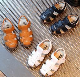 Wholesale Baby Beach Sandals - 2017 Summer New Children Sandal Shoes Boys Shoes Baby Beach Shoes 3 Color 21-30 Wholesale D7189