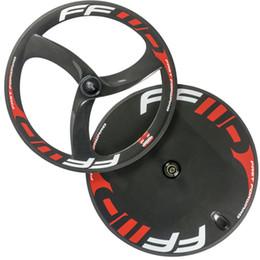 Wholesale Rear Gears - Full carbon wheelset front 3 spoke wheels rear disc wheel clincher carbon wheels fixed wheel road wheel