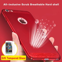 Wholesale Apple Iphone Net - Net Cooling Phone Cases For iPhone 5s 6 6s 7 Plus SE Shockproof PC Hard Ultra Thin Breathing Back Covers Shell For iPhone