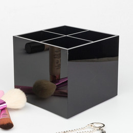 HOT Famous brand classic high-grade acrylic toiletry 4 grid storage box   cosmetic accessories storage with gift packing(Anita Liao)