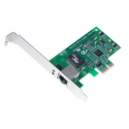 Wholesale gigabit card - Wholesale- Wholesale Free Shipping New PCI-E 10 100 1000M Gigabit Ethernet Network LAN PCIe Card PCIE Network Card