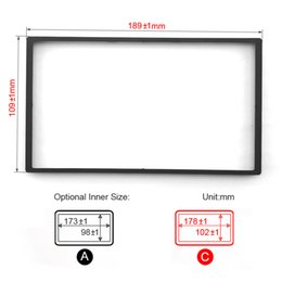 Wholesale Car Stereo Fascia - LEEWA Car DVD CD Radio Stereo Fascia Panel Frame Adaptor Fitting Kit For Honda FIT(Jazz) [SKU#:4406]