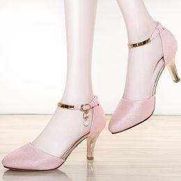 Инкрустация обуви онлайн-Столетие жемчуг инкрустированные металлической пряжкой женские синглов обувь с синглов chedded женская обувь Женская обувь