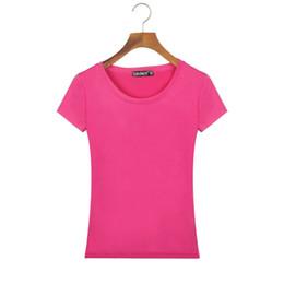 Wholesale Cheap Wholesale T Shirts China - Wholesale- 2017 Summer Style Women Basic T Shirt Slim Fit Cotton Crew Neck Short Sleeve Casual T-Shirt Tops China Cheap Clothes Harajuku