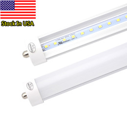 Wholesale Ul Bulbs - Pack of 25 LED 8 Foot Tube Light Bulb, 6000K (Cold White), FA8 Single Pin, 85V-265V AC, 45W - 4800 Lumens (90W Fluorescent Equivalent)