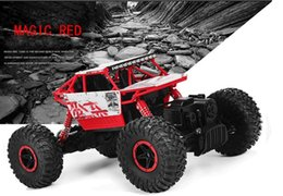 Wholesale Toy Models Cars Trucks - RC Car 2.4GHz Rock Crawler Rally Car 4WD Truck 1:18 Scale Off-road Race Vehicle Buggy Electronic Remote Control Model Toy