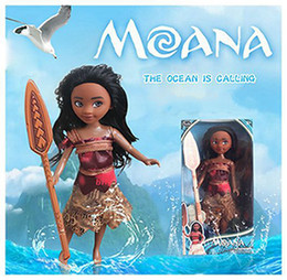 "Wholesale Mini Figure Doll - 9"" Moana Barbie Dolls Classic Moana Pincess Plastic Dolls Action Figure toys for Girls retail package"