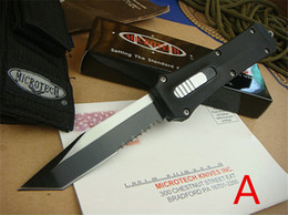 """Wholesale Double Side Knife - Microtech Troodon S E 162 knife 440C(3.8"""") Double sided action auto Tactical automatic knife pocket Survival gear gift Microtech knives"""