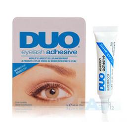 Wholesale Duo Eyelash Adhesive Glue - Factory Direct 100pcs lot DUO Water-proof Eyelash Adhesives (glue) 9G White BlacK Make Up Tools Professional Free Shipping By DHL