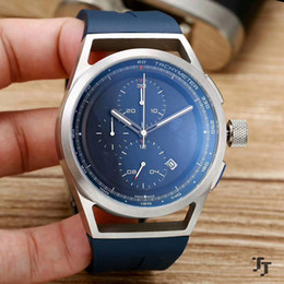 Wholesale Mens Watches Car - High Quality Men Watch 47mm Racing car Wholesale Quartz Battery Luxury Watches Top Brand Rubber Strap Silver shell Big Bang Gift mens pp6750