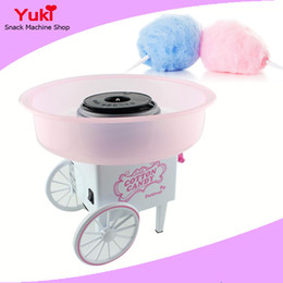 Wholesale Candy Carts - Mini Korea Retro Cotton Candy Machine Carts Home Electric Cotton Candy Floss Maker Gift for Children