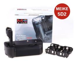 Wholesale Camera Mark - New Durable Multi Battery Holder Grip Meike MK-5D2 for Canon 5D Mark II 5D2 as BG-E6