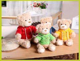 Wholesale New Small Toys - 20cm Cute Cartoon Bear Plush Toys Kids Children Small Stuffed Teddy Bear Toy Creative Gift JS 002