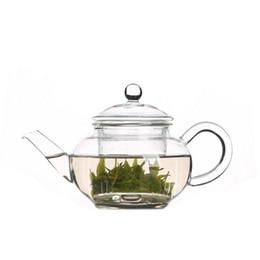 Tazze di caffè libere online-8,62 fl.oz 250 ml resistente al calore chiaro pyrex vetro teiera caffè teiera set succo di bollitore con due tazze di tè spedizione gratuita