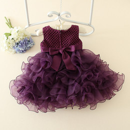 Wholesale Korean Beautiful Baby Girl - 2017 Flower Girl Dresses princess Korean Style Baby dress Lace ribbon Child Dresses Beautiful Flower Girl Wedding Dresses
