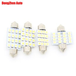 Wholesale White Led Front Light - Dongzhen Car bulbs SV8,5 12v 24v 31 36 39 41MM 16 LED 3528 Car Festoon C5W Dome Light Reading C10W Work Bulb License Plate Lights