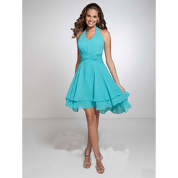 Cheap Halter Turquoise Bridesmaid Dresses  Free Shipping Halter ...