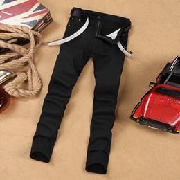 Wholesale Color Skinny Jeans For Men - Wholesale- 2017NEW Classic black jeans for men high quality blue color jeans men brand design denim biker jeans mens pants 28-38