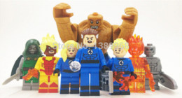 Wholesale Dr Figures - SY288 2015 New Fantastic Four action figures Blocks Figures Mr. Fantastic Invisible Woman The Thing Human Torch Dr Doom