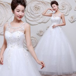 Wholesale Wholesale Beaded Bras - Korean wedding bride wedding bra 2017 new simple longnew style full dressdress women's new bride brief dress