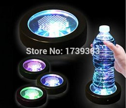 Wholesale Bamboo Change Mat - Wholesale-Drop price!1PCS Lot Free shipping High Quality Colorful Changing LED Light Drink Glass Bottle Cup Coaster Mat Bar Party Xmas