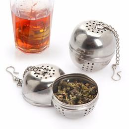 Wholesale Sphere Tea Filter - Stainless Steel Sphere Locking Spice Tea Ball Strainer Mesh Infuser Tea Strainer Filter Mesh Herbal Ball Cooking Tools b792