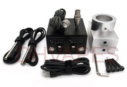 Wholesale Double Holed - Double holes Rosin Press Plate aluminium Plates Dual PID Electric Nail temperature Control box heating rods Titanium Nail coil heater