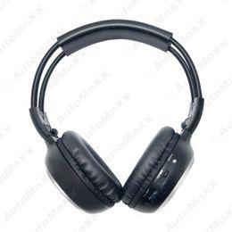 Wholesale Wireless Headphones Ir - Wholesale- Car DVD Stereo 2 Dual Channel Audio IR Infrared Wireless Music Foldable Earphone Headphone #J-2447