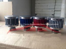 Filtro de respiro de óleo on-line-Universal Chrome Vermelho Azul Auto Car Oil / Filtro de Respiro Filtro De Combustível Do Ar com 12 MM de entrada