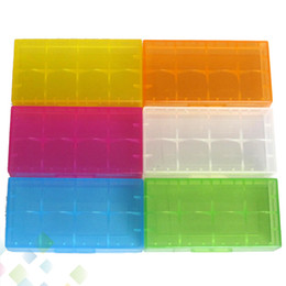 Wholesale Container Boxes - 2*18650 Battery Case Box Safety Holder Storage Container Plastic Portable Case fit 2*18650 or 4*18350 CR123A 16340 Battery DHL Free