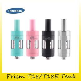 Otantik Innokin Endura Prizması T18 T18E Tank 2ml 2.5ml Üst Dolum Endura T18 T18E için 1.5ohm Değiştirilebilir Bobin Başlığı ile nereden prizma t18 tankı tedarikçiler
