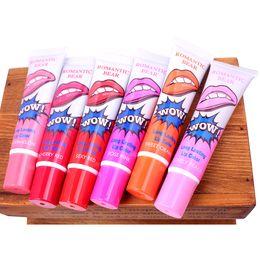 Wholesale Marine Collagen - Lip Gloss Peel-off Lasts For No Stain Marine Collagen Lipstick Balm Plant Romantic Bear 6 Colors Makeup Moisturizing Lip Mask