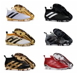Wholesale Mens Boots For Sale Cheap - Football Shoes ACE 16+ Purecontrol FG Soccer Cleats For Men Football Boots Cheap Soccer Boots Mens New Arrival Soccer Shoes Sale Gold Black