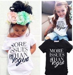 "Wholesale Boys 3t Christmas - INS ""more issues than vogue"" New Kids Baby Girls Summer Fashion Cotton Short sleeve Letter Print T-shirt Tops Clothes JC334"
