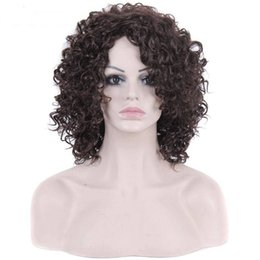 Wholesale High Quality Wigs For Cheap - Long Curly Kinky Afro Wigs for African American Women High Quality Cheap Synthetic Wigs Heat Resistant Fashion Cosplay Wigs