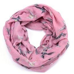 Wholesale red loop scarf - Wholesale-humming bird infinity scarf foulard women hummingbird bufandas mujer echarpes foulards femme automne winter loop scarfs 2015