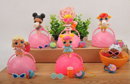 Wholesale Modelling Babies Dress - LOL Surprise Doll Removable Packing flexo Ball LiL Sisters Action Figures L.O.L. Surprise Dolls Set Dress Up Baby Spray Water Dolls Toy