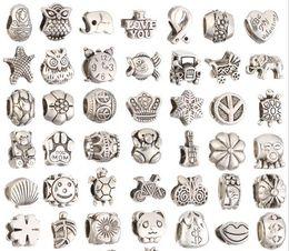 Wholesale Big Hole Charms - Mix 29 Style Big Hole Loose Beads charm For Pandora DIY Jewelry Bracelet For European Bracelet&Necklace