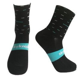 Wholesale White Swim Top - Sky Knight Top Professional Sport Socks Breathable Road Bicycle Outdoor Racing Cycling Socks Bashetball Socks