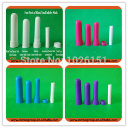 Wholesale Inhaler Glass - Hotsale 2017 Nasal Inhaler Blank with High Quality Cotton Wicks, herbal refreshing nose blank inhaler(102sets lot,Free shipping)