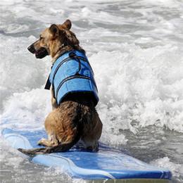 Wholesale Life Size Female - Dog Life Jacket Dog Pet Water Swimming Life Vest Jacket Clothes Preserver Swimwear Preserver Breathable Adjustable Boating Life Vest Size
