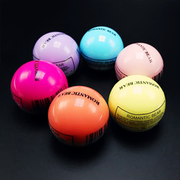 Wholesale Ball Lip Balm Wholesale - Round Ball Moisturizing Lip Balms 3D Lipsticks Makeup Natural Plant Sphere lip Pomade Fruit Embellish lip Care DHL Free Shipping